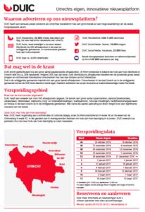 Tariefkaart De Utrechtse Internet Courant