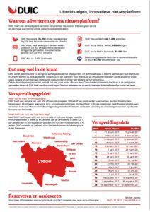 Tariefkaart | Bereik Utrecht door te adverteren via DUIC
