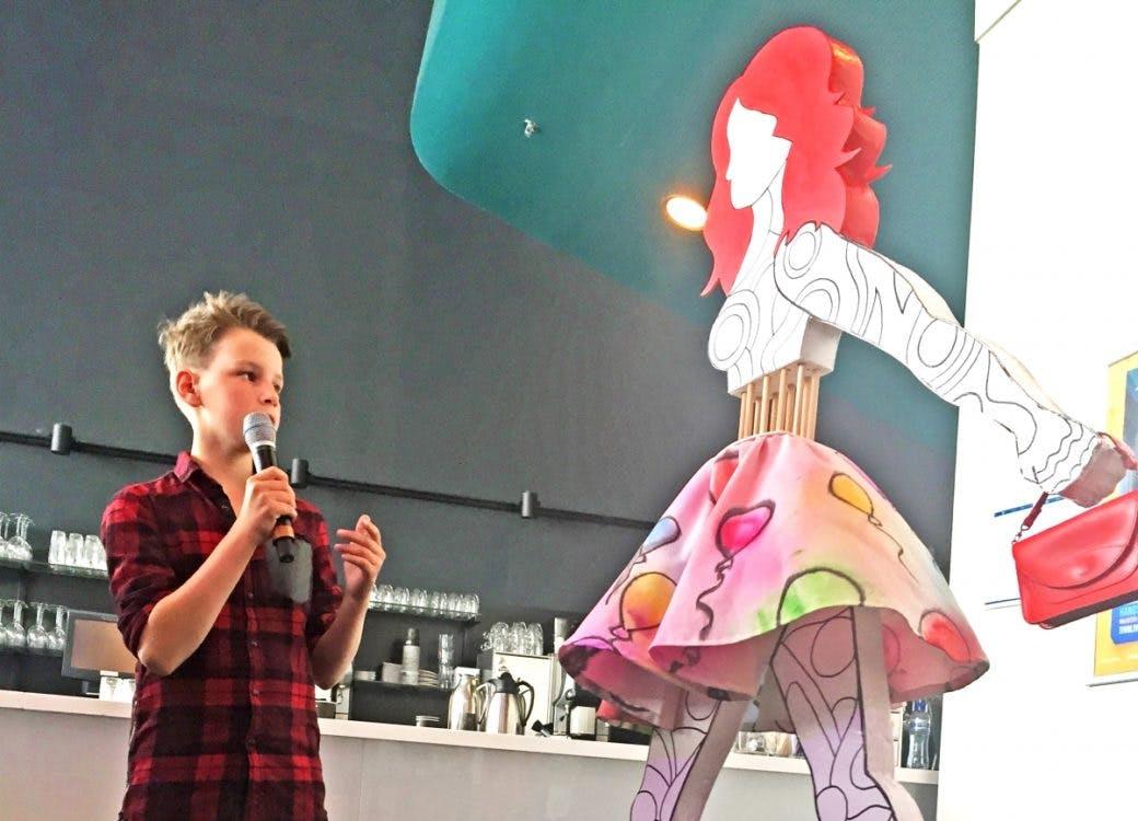 12-jarige Geert Sweep wint Kunstbende 2015 en staat binnenkort in het Stedelijk Museum