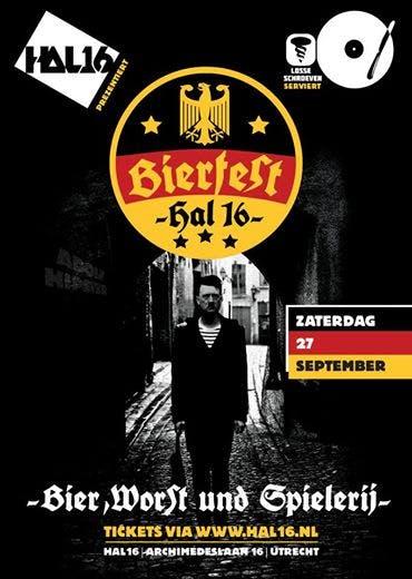 Adolf Hitler als cultfiguur op flyer bierfest van Hal 16. Moet alles kunnen?
