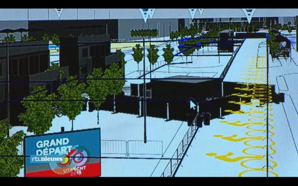 Tourstart door middel van 3D-animatie tot in detail uitgewerkt