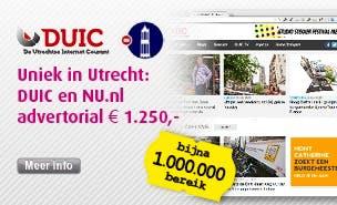 Op NU.nl en DUIC: uw advertorial voor €1.250? Vaste toppositie, zeven dagen lang