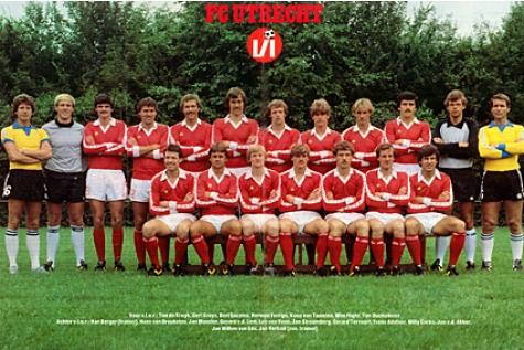 De selectie van 1981/1982. Bron: FC Utrecht