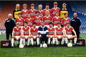 De selectie van 1984/1985. Bron: FC Utrecht