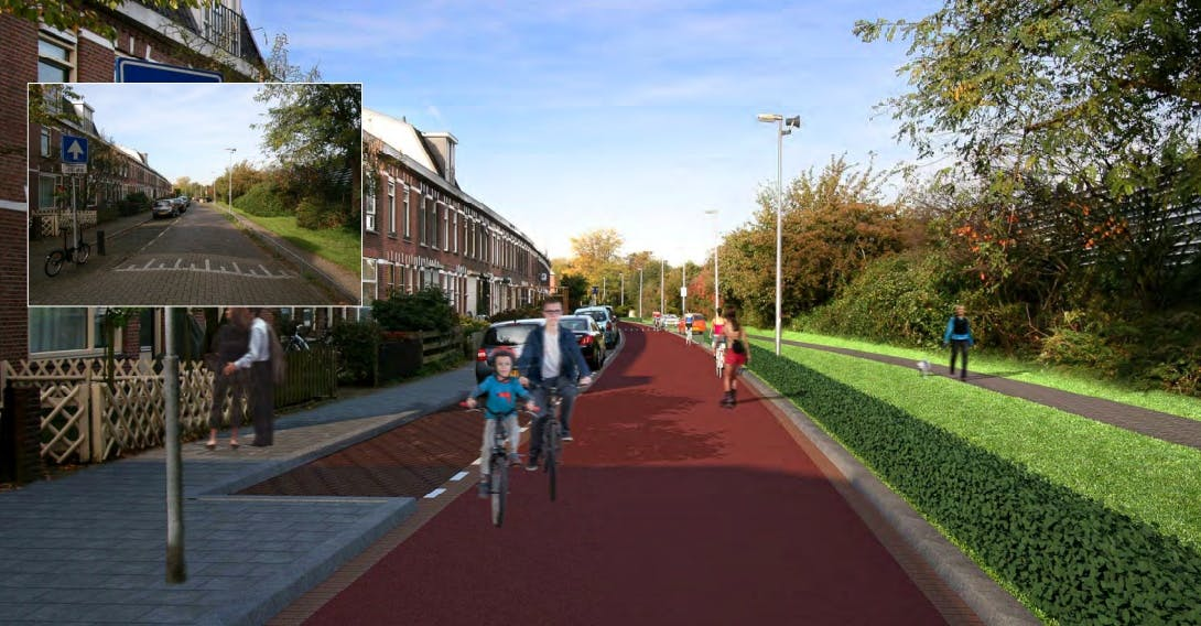 Fietsstraat Cremerstraat krijgt extra duurzaam asfalt