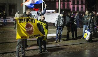 Gemoederen lopen op bij protest tegen AZC in Utrecht