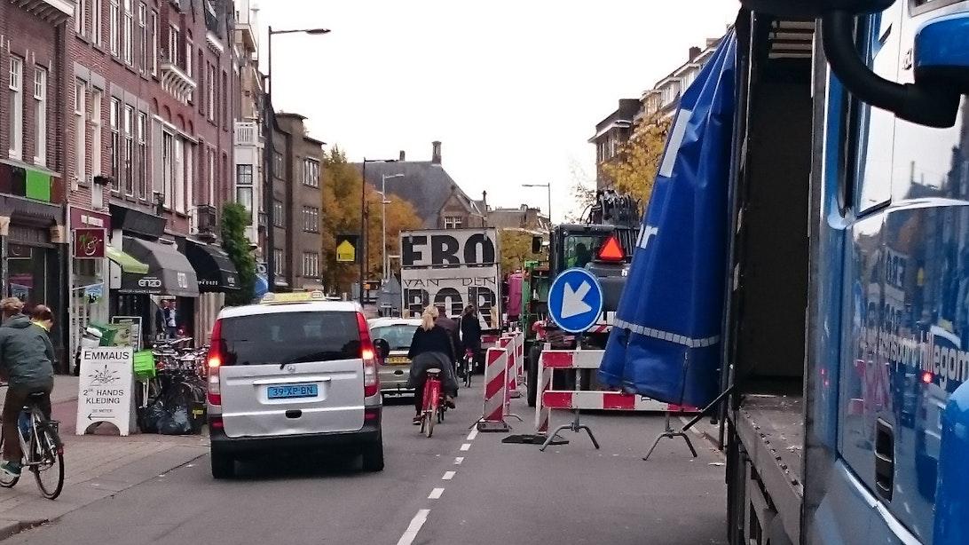 Verbouwing Albert Heijn Nachtegaalstraat zorgt voor chaos en gevaarlijke situaties