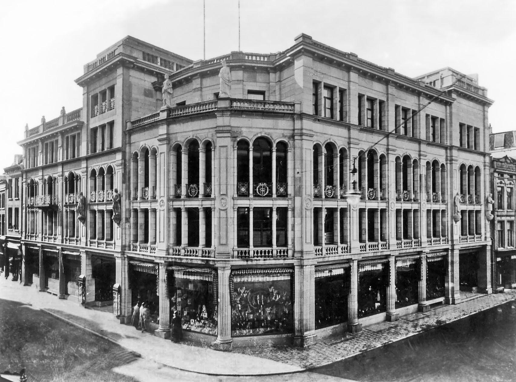 Vroom & Dreesmann kort na de uitbreiding van 1924 (Het Utrechts Archief)