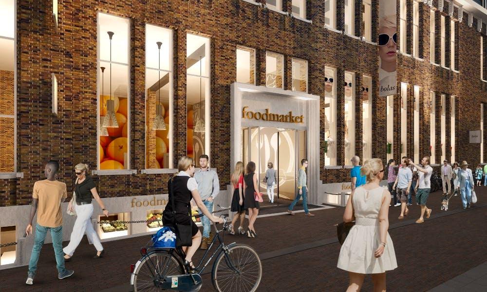 Foodmarkt postkantoor Neude krijgt fietsenstalling met 700 plekken