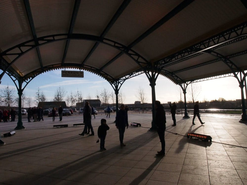 Foto's: historische perronkappen Utrecht Centraal krijgen nieuw leven op Berlijnplein