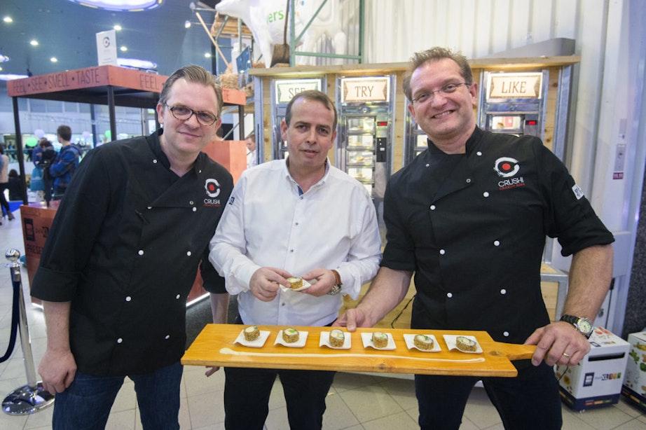 Utrechtse ondernemers krijgen volledig patent op nieuwe vorm van sushi: Crushi
