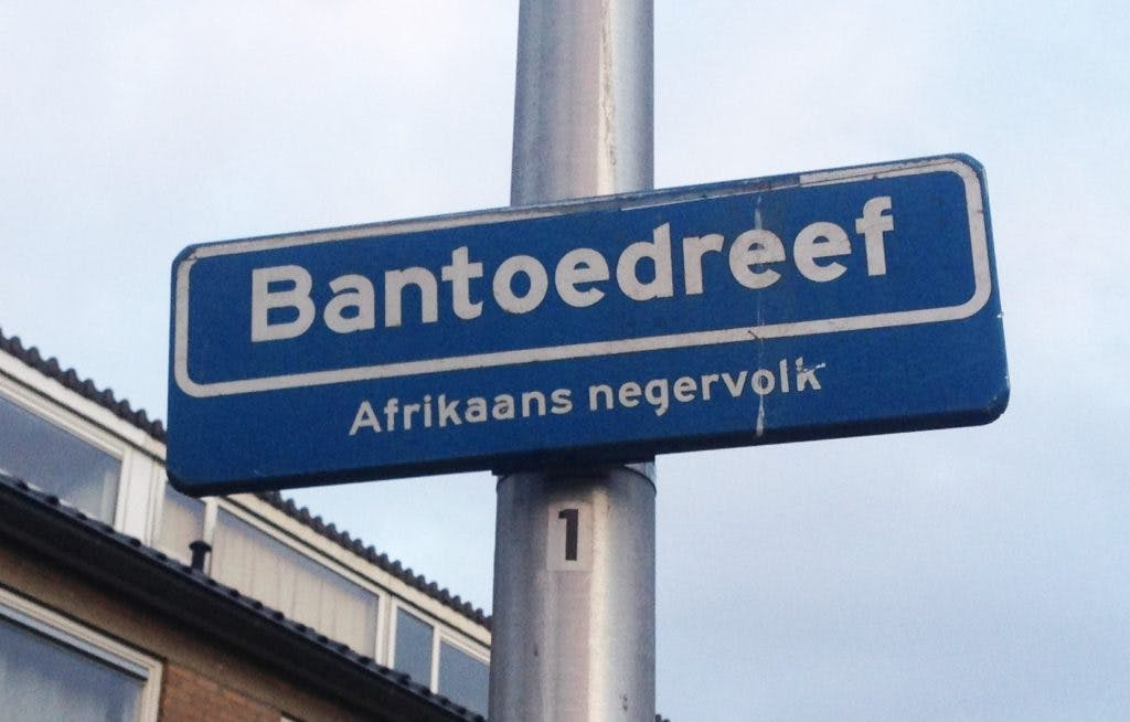 Gemeente verwijdert straatnaambordje Bantoedreef zo snel mogelijk