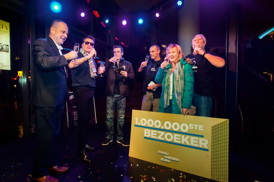 TivoliVredenburg heeft miljoenste bezoeker ontvangen