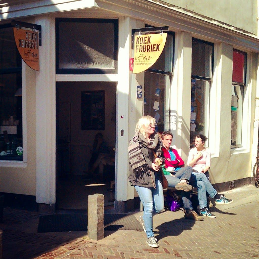 Jette en Jildou drinken koffie bij de Koekfabriek: ' Een haast sprookjesachtige ervaring'