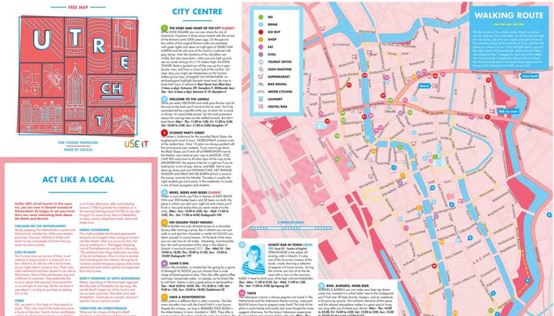 Nieuwe stadsplattegrond van Utrecht speciaal voor buitenlandse bezoekers