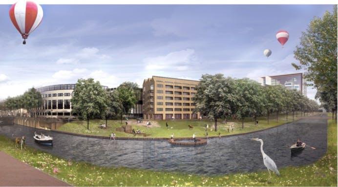 Wijk C-Komitee laat woonblok ontwerpen als alternatief voor stadsbioscoop 'De Kade'