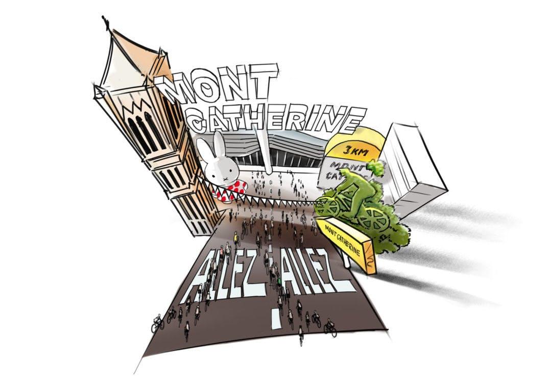 Hoog Catharijne omgedoopt tot Mont Catherine: winkelcentrum als pittoresk Frans bergdorp