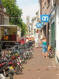 Proef met fietsparkeervakken in de binnenstad