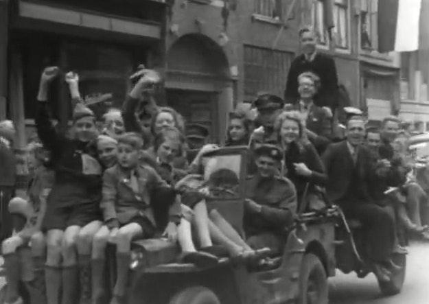Bekijk hier beelden van de bevrijding van Utrecht op 7 mei 1945