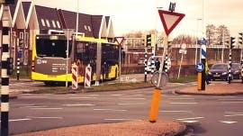Onveilige busbaan Vleuterweide wordt aangepast ter hoogte van winkelcentrum