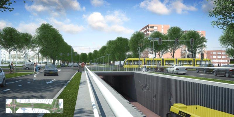 Zo gaat de nieuwe busbaan in Transwijk eruit zien
