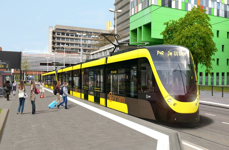Half jaar vertraging voor Uithoflijn, Rabobrug, bus- en tramhaltes