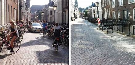 Drift is heringericht voor aanvang nieuw studiejaar; geen fietsen meer in de straat
