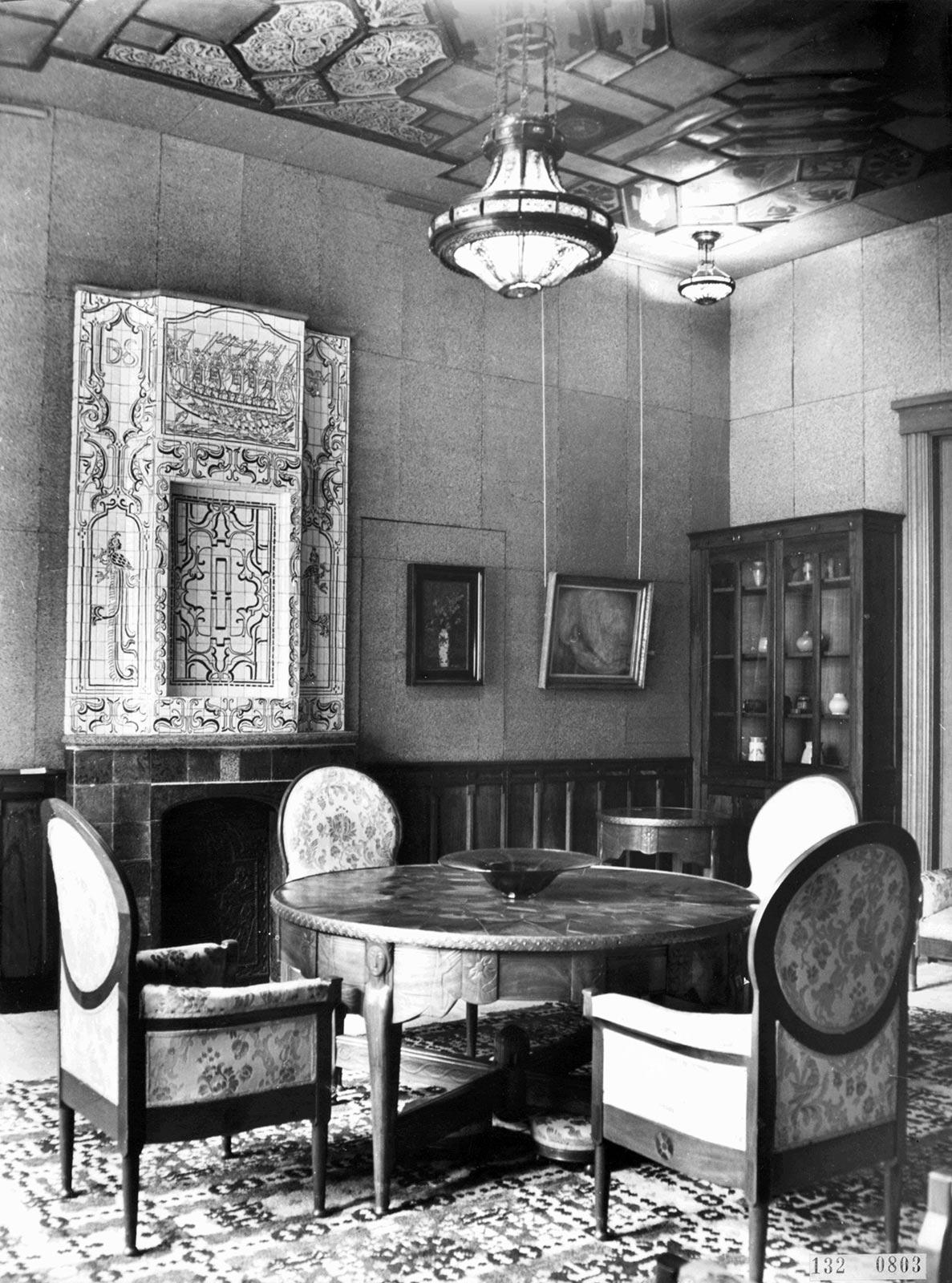 Lion Cachet-kamer aan de Maliebaan 42, ca. 1975 (Rijksvoorlichtingsdienst/Nationaal Archief)
