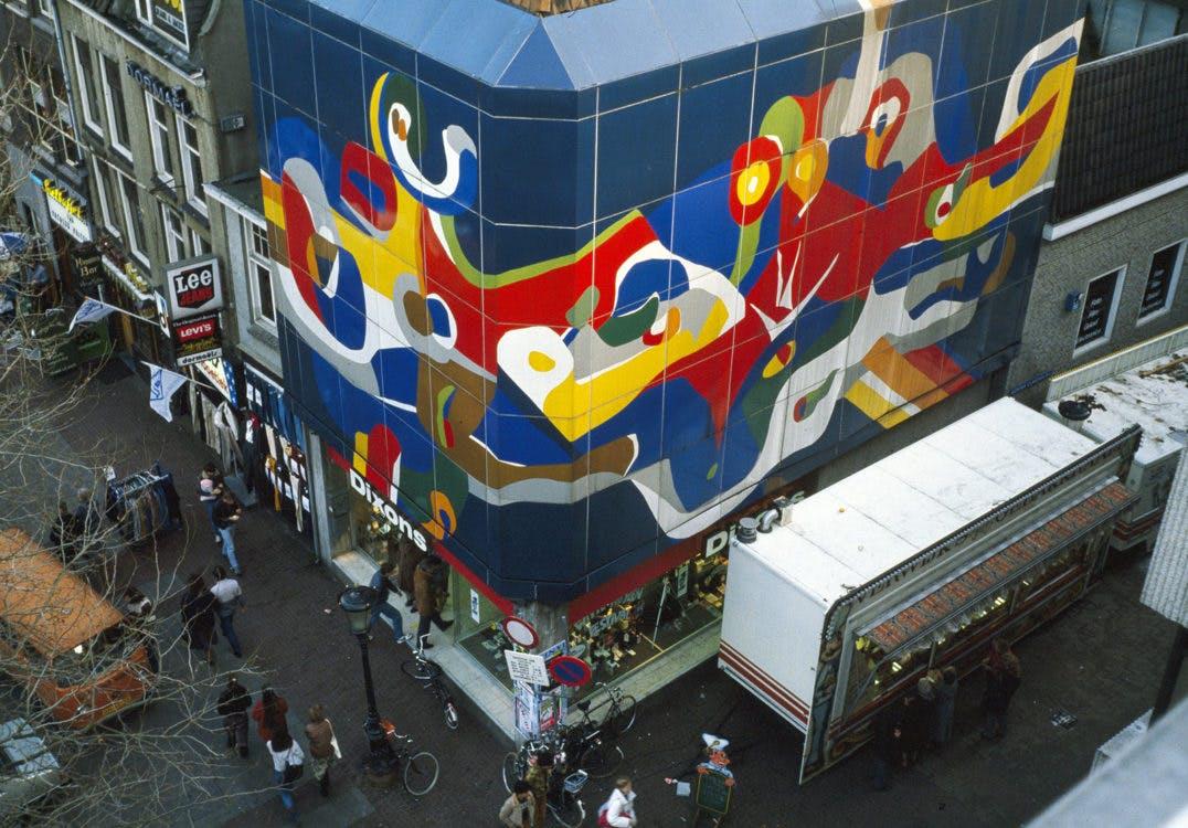 Dixonspand: Utrechts grootste gevelkunstwerk dreigt te verdwijnen