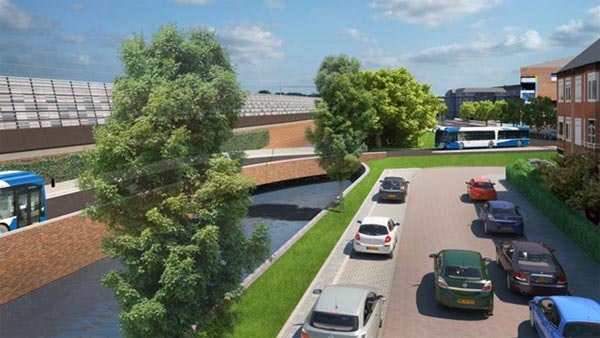 Schade aanleg busbanen Dichterswijk geschat op tonnen