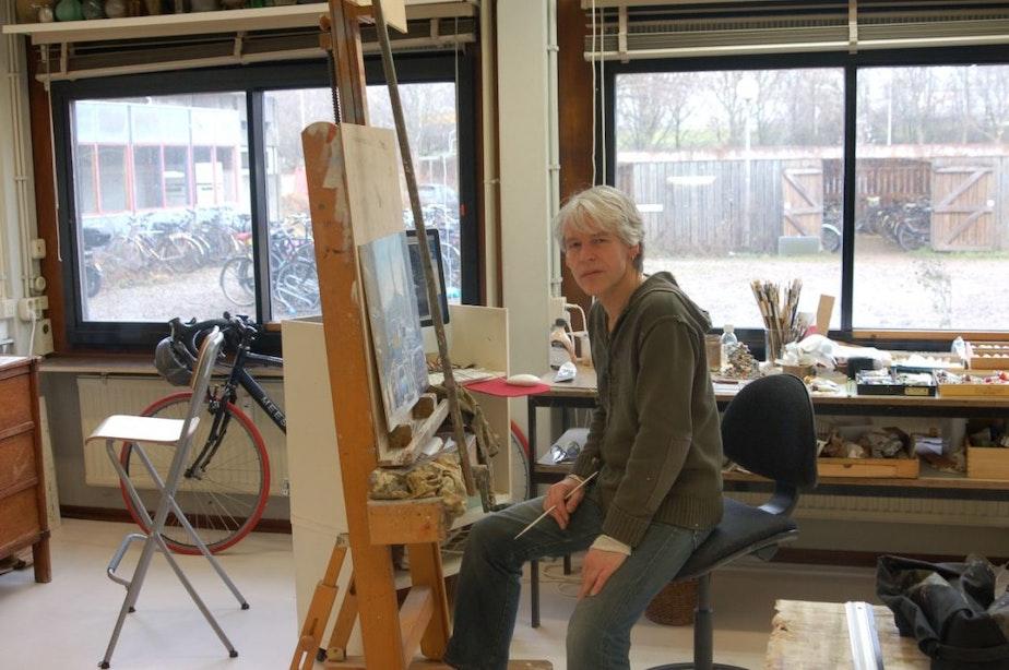 Utrechtse kunstenaar maakt portret Claudia de Breij voor Sterren op het Doek