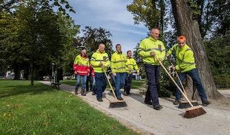 Team Stadswerken genomineerd Uitblinker 2015 voor schoonmaken tijdens de Grand Départ