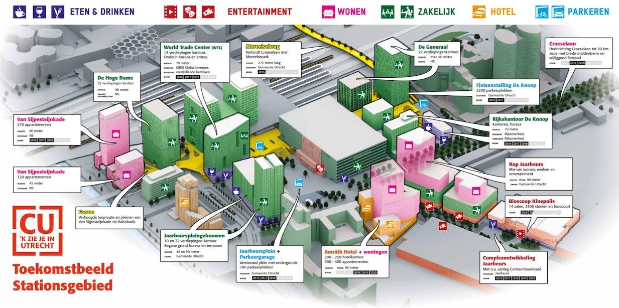 Infographic: Het Stationsgebied aan de Jaarbeurskant in 2023
