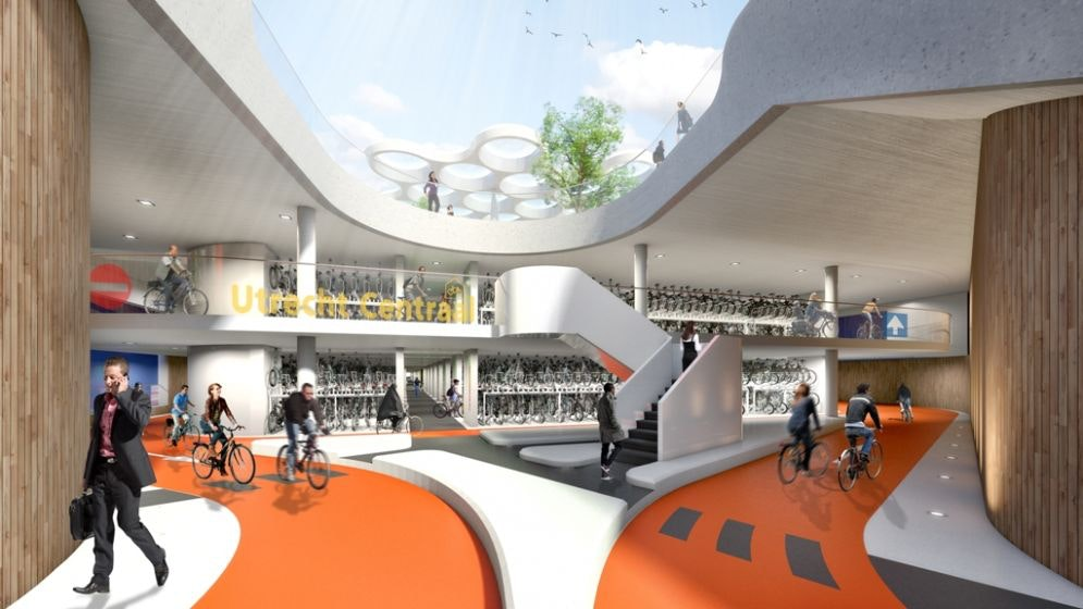 Oplevering eerste deel 'grootste fietsenstalling ter wereld' jaar uitgesteld
