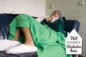 Duurzaamste studentenhuis: Stap met huisgenoten onder de douche!