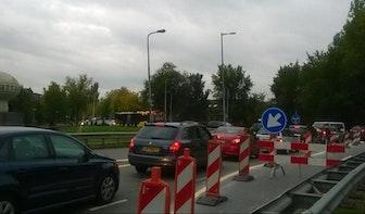 """Werkzaamheden Lunettenbaan leiden tot half uur vertraging komende drie maanden: """"Bizarre situatie"""""""