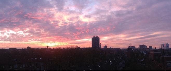 Foto's: Tien maanden lang de zonsopkomst in Oudenoord