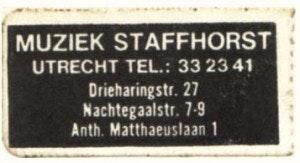 Muziekwinkel Staffhorst failliet