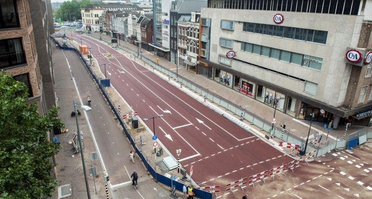 Gemeente plant bomen aan Vredenburg: overlast en omleidingen voor fietsers