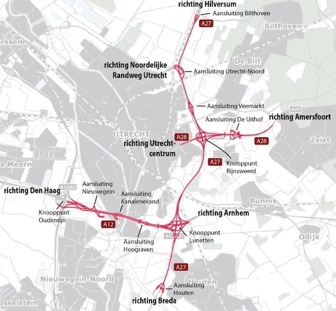 Ontwerptracébesluit en milieueffectrapport A27/A12 Ring Utrecht ter inzage