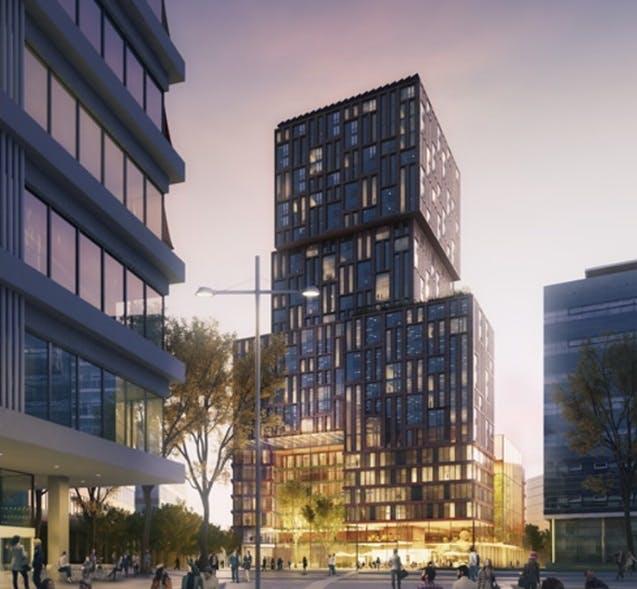Officieel: Jaarbeursplein krijgt 4-sterren hotel en 350 appartementen