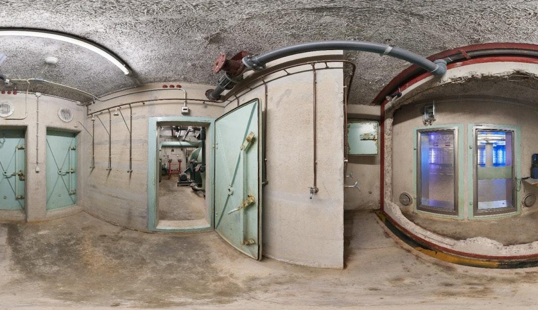 Virtual Reality-tour van de atoomschuilkelder Noordertunnel