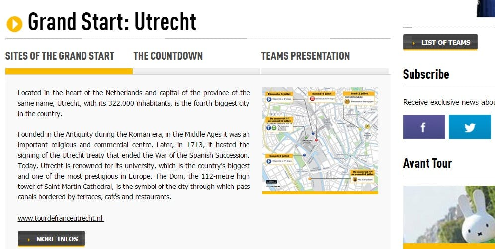 Organisatie Tour de France: Grand Départ vindt weer plaats in Utrecht