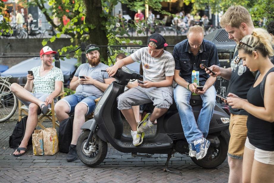 Pokémon-jagers in Utrecht