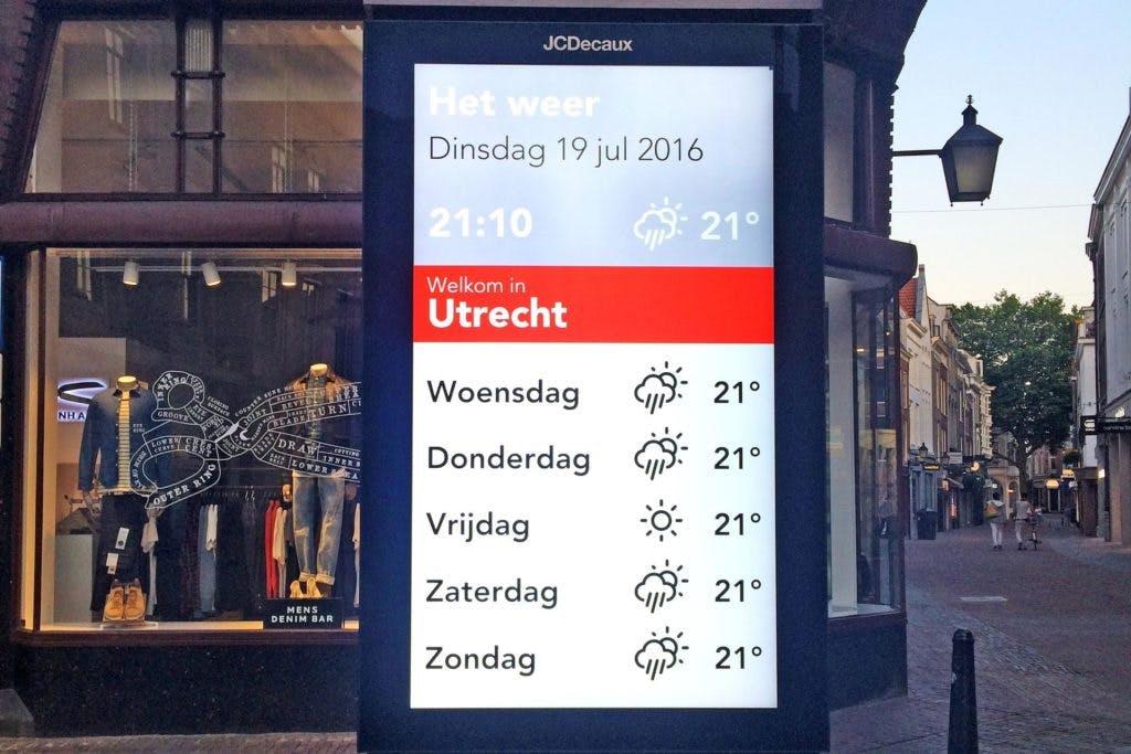 Utrecht krijgt tal van digitale informatiezuilen met touchscreen