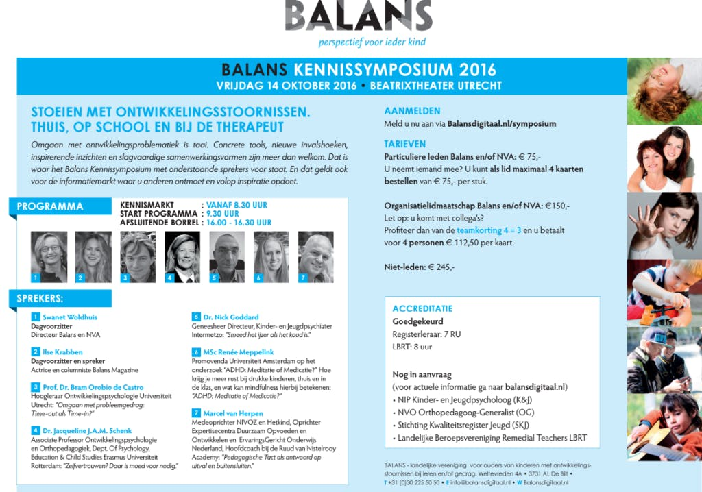 Balans Symposium: 'Stoeien met ontwikkelingsstoornissen'