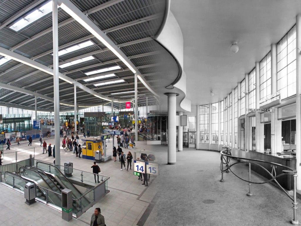 Verdwenen gebouwen: De elegante stationshal van Sybold van Ravesteyn