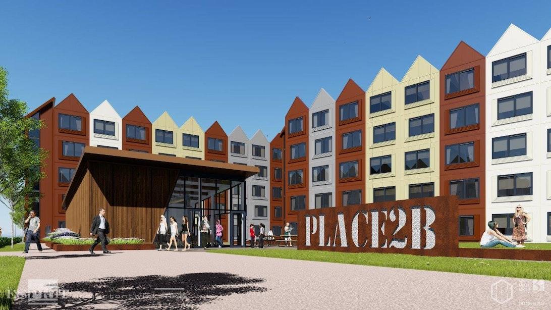 Mitros en Portaal bouwen Skaeve Huse en tijdelijke woningen langs A2