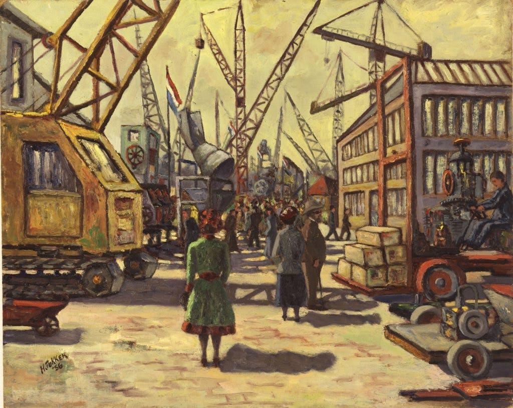 De getekende stad: Croeselaan, 1956