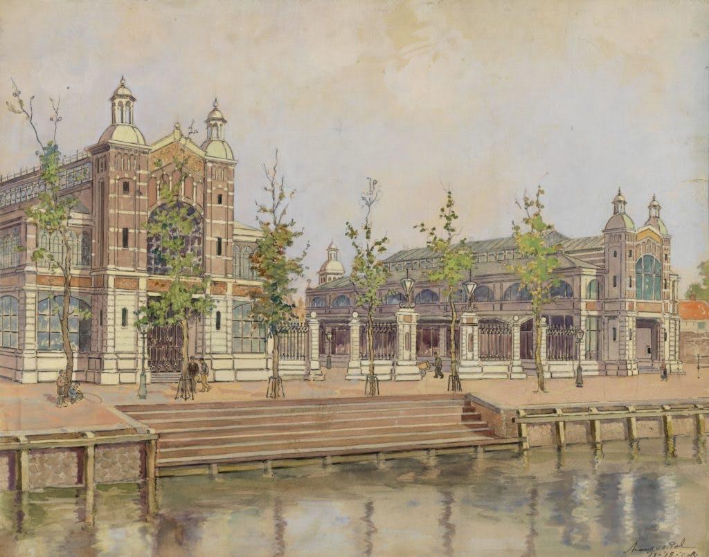 De getekende stad: Fruithal en Korenbeurs, 1918